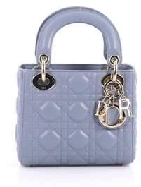 Christian Dior Pre-owned: Lady Handbag Cannage Quilt Lambskin Mini.