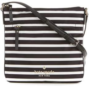 Kate Spade Watson Lane Hester Striped Cross-Body Bag - BLACK/CLOTTED CREAM - STYLE