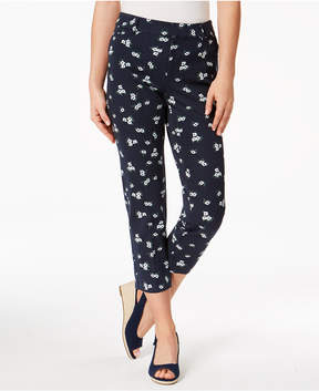 Charter Club Newport-Print Slim-Leg Cropped Pants, Created for Macy's