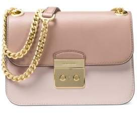 MICHAEL Michael Kors Colorblock Leather Shoulder Bag - PINK - STYLE