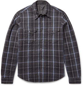 Aspesi Reversible Thermore-Padded Flannel And Shell Shirt Jacket