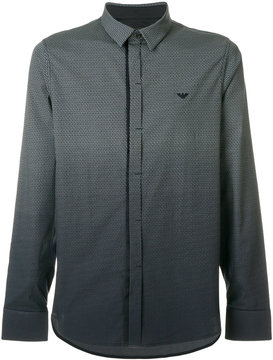 Emporio Armani long sleeved ombre shirt