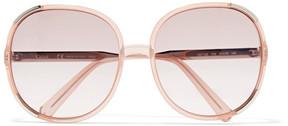 Chloé Myrte Square-frame Acetate Sunglasses - Peach