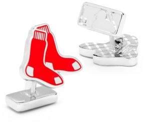 Cufflinks Inc. Cufflinks, Inc. MLB Silvertone Boston Red Sox Cuff Links