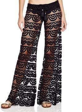 Pilyq Malibu Lace Swim Cover-Up Pants