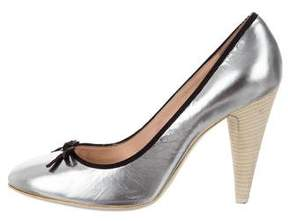 Marc by Marc Jacobs Metallic Round-Toe Pumps