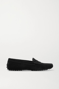 Tod's Gommino Suede Loafers - Black