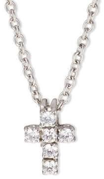 FANTASIA Small CZ Cross Pendant Necklace