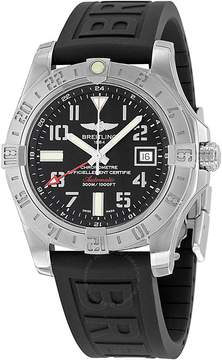 Breitling Avenger II GMT Black Dial Black Rubber Automatic Men's Watch A3239011-BC34BKPD3