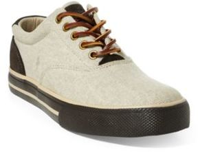 Ralph Lauren Vaughn Canvas Sneaker Natural 10