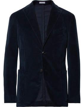 Boglioli Storm-Blue Slim-Fit Stretch-Cotton Corduroy Suit Jacket