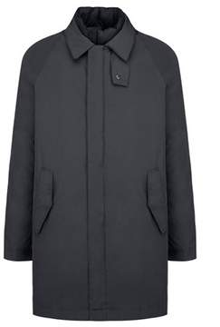 Aspesi Men's Blue Polyamide Coat.