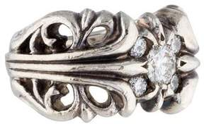 Chrome Hearts Cutout Diamond Ring