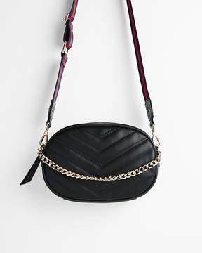 Express Striped Strap Quilted Belt Bag