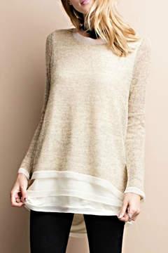 Easel Silk Hem Sweater