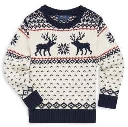 Ralph Lauren Toddler's, Little Boy's & Boy's Reindeer Knit Sweater