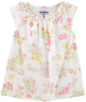 Osh Kosh Oshkosh Bgosh Girls 4-12 Pom Pom Flutter Sleeve Tee