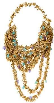 Erickson Beamon Multistrand Leaf Necklace