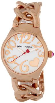 Betsey Johnson Women's Chain Bracelet Watch