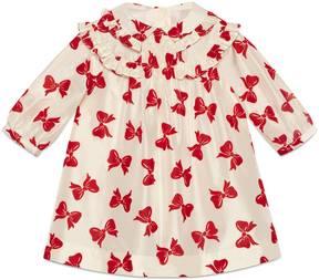 Gucci Baby taffeta bow flock dress