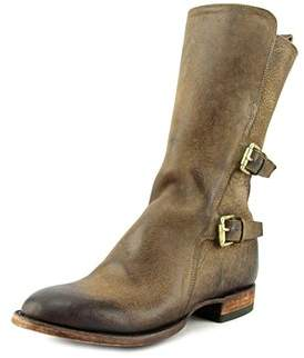 Lucchese Kate Women Round Toe Leather Brown Boot.