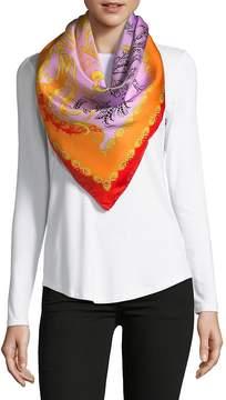 Saks Fifth Avenue Women's Intricate Floral-Print Silk Foulard