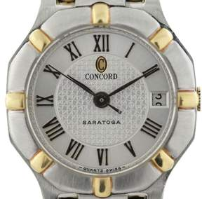 Concord Saratoga Two Tone Stainless Steel and 18K Yellow Gold Quartz Womens Watch
