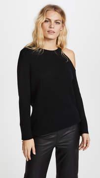 David Lerner Asymmetrical Cold Shoulder Sweater