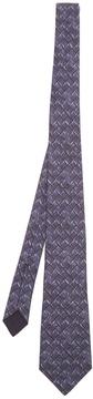 Bottega Veneta Intrecciato-print cotton and silk-blend tie
