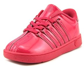 K-Swiss Classic Vn Toddler Round Toe Patent Leather Pink Sneakers.