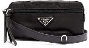 Prada Nylon And Leather Belt Bag - Womens - Black