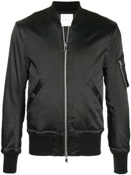 ESTNATION zipped bomber jacket