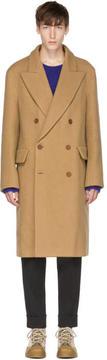 Acne Studios Tan Rover Bouclé Coat