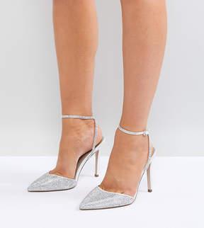 Asos PHARAOH Wide Fit Bridal Embellished High Heels