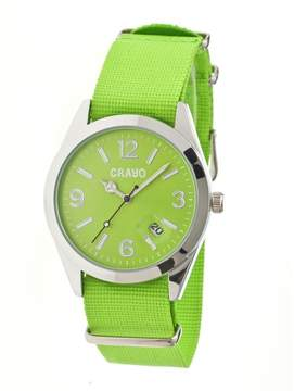 Crayo Sunrise Lime Dial Lime NATO Nylon Ladies Watch