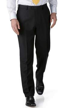 Charles Tyrwhitt Black Extra Slim Fit Twill Business Suit Wool Pants Size W28 L38