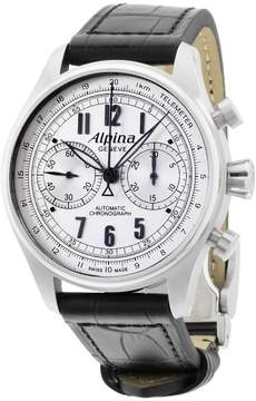 Alpina Startimer Classics AL860SCP4S6 Silver Dial Leather Strap 44mm Mens Watch