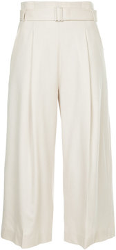ESTNATION high-waisted belted trousers
