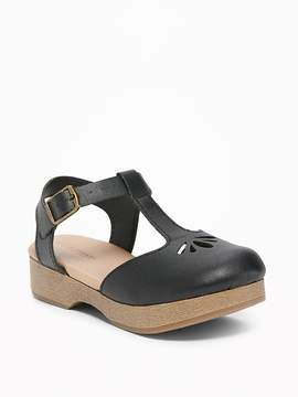 Old Navy Faux-Leather Cut-Out Clogs for Toddler Girls