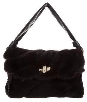 Nina Ricci Mink Flap Bag