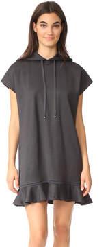 Carven Hoodie Ruffle Dress