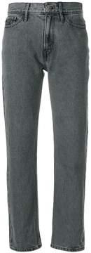 CK Calvin Klein cropped straight leg jeans