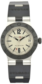Bulgari AL32TA Aluminium / Rubber Quartz 32mm Mens Watch