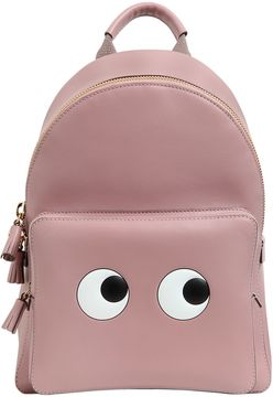 Mini Eyes Leather Backpack