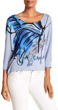 Desigual Hi-Lo Graphic Front Shirt