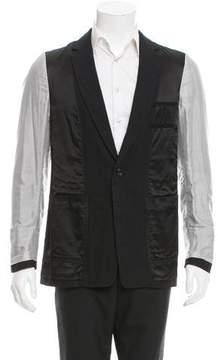 Dries Van Noten Pinstripe Sleeve Two-Button Blazer w/ Tags