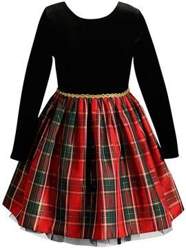 Youngland Girls 4-6X Plaid Dress