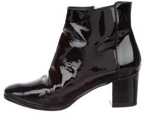 Ralph Lauren Patent Leather Square-Toe Ankle Boots