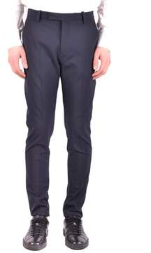 Hosio Men's Blue Wool Pants.