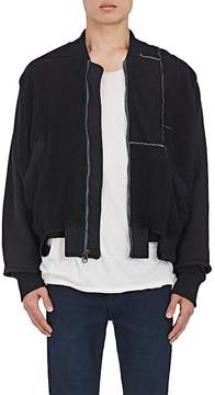 Longjourney Men's Cutout French Terry Bomber Jacket